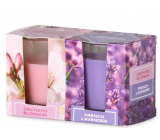 Emocio Orchard Blossom & French Lavender scented candle glass 52 x 65 mm 2 pieces in a box