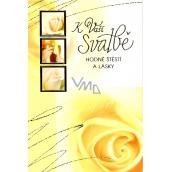 Nekupto Wedding Card A yellow rose for your wedding