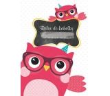 Ditipo Relax in handbag Owl notebook 15 x 10.5 cm