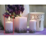 Lima Lavender candle light purple roller 60 x 90 mm 1 piece