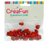 CreaFun Dřevěné dekorace Berušky 1 x 1,3 cm 40 kusů
