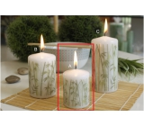 Lima Bamboo candle white cylinder 50 x 70 mm 1 piece
