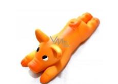 Latex sandblast toy pig for dogs - length 13 cm