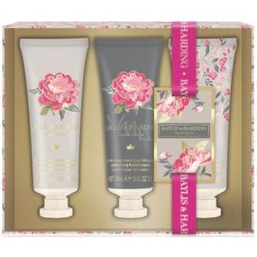 Baylis & Harding Pink magnolia and pear flower hand cream 3 x 50 ml, cosmetic set