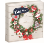 Big Soft Christmas paper napkins Wreath with ornaments 33 x 33 cm 2 ply 20 pieces