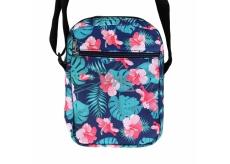 Albi Original Crossback Hibiscus shoulder bag 17 x 23 x 5 cm