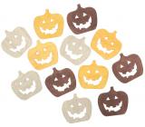 Pumpkin wooden beige-yellow-brown 4 cm 12 pieces