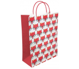 Nekupto Gift kraft bag 22 x 29 x 10 cm Foxes 501 KKL