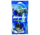 Super-Max Long Handle Disposable 3 Razor For Men 5 Pieces