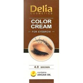 Delia Cosmetics Color Cream Coloring eyebrow cream with argan oil 4.0 Brown 15 ml + 15 ml