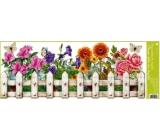 Room Decor Okenní fólie bez lepidla truhlíkové květiny plotek 60 x 22, cm