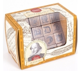 Albi Great Minds Shakespeare wooden puzzle 4.8 x 4.8 x 7.6 cm