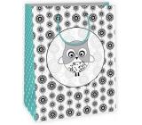 Gift bag Creative 40 white - owl