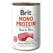 Brit Mono Protein Beef with rice complete dog food 400 g