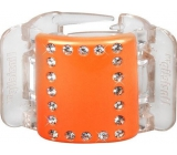 Linziclip Midi Hair Clip Orange with crystals 3.5 cm suitable for medium and thick hair 1 piece