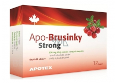Apotex Apo-Cranberries Strong strong extract from whole fruits, food supplement 500 mg 12 capsules