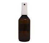 Sprayer plastic bottle brown refillable partially transparent 50 ml