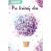 Nekupto General greeting card Purple flowers 115 x 170 mm 3566 F
