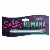 Nekupto Glowing pen with the name Roman, touch tool controller 15 cm