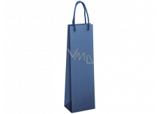 Ditipo Gift paper bag for bottle 12 x 9 x 39 cm ECO blue