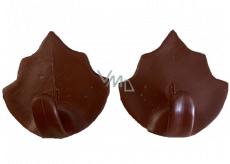 Plastic Nova hook brown self-adhesive Maple 2 pieces