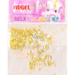 Angel nail decorations pieces yellow 1 pack