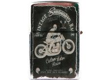 Bohemia Gifts & Cosmetics Retro gasoline lighter with print Speedmasters 5,5 x 3,5 x 1,2 cm