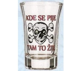 Nekupto Gifts with humor Glass shot humorous Where they drink, there it lives 0.04 l