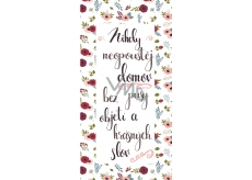 Bohemia Gifts Decorative painting for hanging Never leave 20 x 40 cm