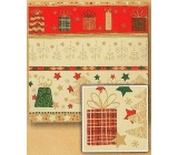 Nekupto Christmas wrapping paper Red-gold, Christmas motifs 2 x 0,7 m BVC 2015 18