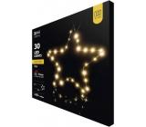 Emos Hvězda na stojánku 33 x 13 cm - 30 LED teplá bílá + časovač
