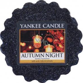 Yankee Candle Autumn Night - Podzimní noc vonný vosk do aromalampy 22 g