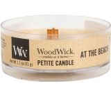 WoodWick At the Beach - On the beach scented candle with wooden wick petite 31 g