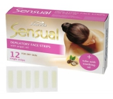 Joanna Sensual Argan Oil depilatory face tapes for dry skin 12 pieces