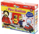 Jumping Clay City - Fire station self-drying modeling compound for children 5+