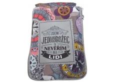 Albi Foldable Bag with Zippered Handbag with Unicorn Inscription Size: 42 cm × 41 cm × 11 cm