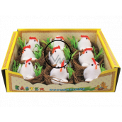 Nests with chicken and eggs 5,5 cm 1 piece
