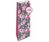 Nekupto Gift paper bottle bag 12.5 x 32.5 x 8 cm Peony 1849 LILH