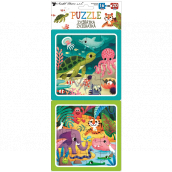 Puzzle Animals 15 x 15 cm, 16 and 20 pieces, 2 pictures