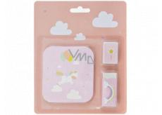 Albi Set of stickers, sharpener and rubber Unicorn 14 x 17 cm