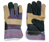 Spoked Beef Leather Gloves Work 1 Pair