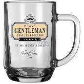 Nekupto League of True Gentlemen Gentleman Beer Glass is not just a legend, you are one of them 14,5 x 13 x 10 cm