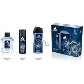 Adidas UEFA Champions League Champion Eau De Toilette Spray 100 ml + Deodorant 150 ml + Shower Gel 250 ml for Men Cosmetic Set
