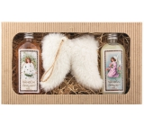 Bohemia Gifts & Cosmetics Christmas shower gel 2 x 200 ml + Angel wings, cosmetic set