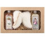 Bohemia Gifts Christmas shower gel 2 x 200 ml + Angel wings, cosmetic set