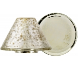 Yankee Candle Kensington shade large 10 x 15 cm + plate large 12 x 12 cm for medium and large scented candle Classic