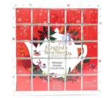 English Tea Shop Bio Advent calendar Puzzle red 25 pieces of biodegradable tea pyramids, 13 flavors, 48 g, gift set