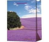 Emocio Gift paper bag 10 x 15 x 5 cm Provance Lavender, tree