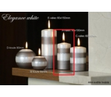 Lima Elegance White candle light brown cylinder 50 x 100 mm 1 piece