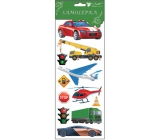 Room Decor Stickers means of transport red car 34.5 x 12.5 cm